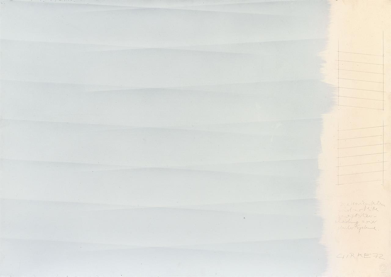 Raimund Girke. Ohne Titel. 1972. Gouache und Bleistift. Signiert.