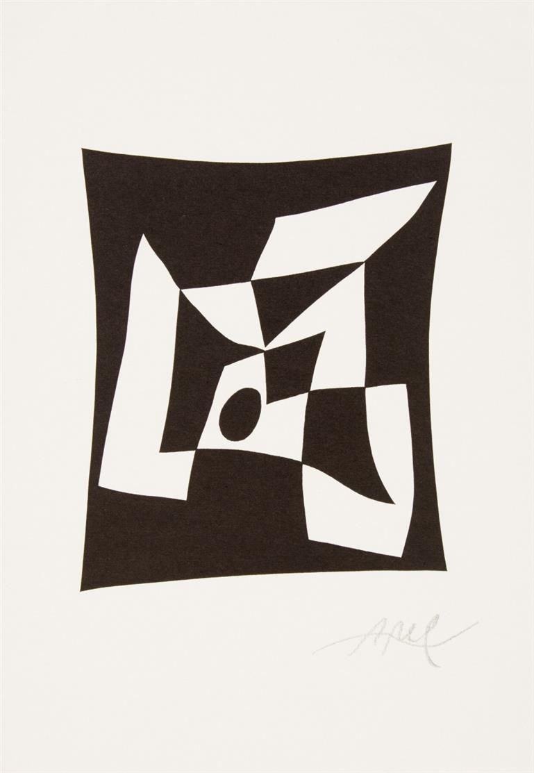 Hans Arp. Knossos. 1956 (1960). Reproduktion nach einem Holzschnitt, erschienen in