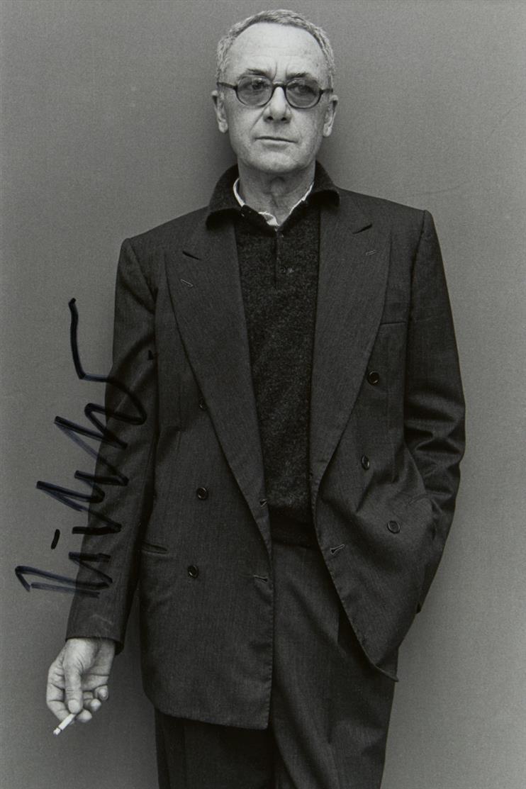 Dieter Schwerdtle. Gerhard Richter Kassel. 1992. S/W-Fotografie. Mit Gefälligkeitssignatur von G. Richter.