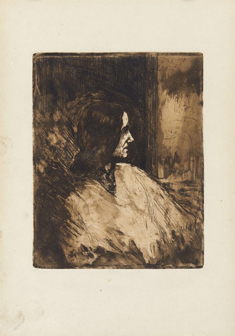 Emil Nolde. Profil. 1905. Radierung. Nicht num. Ex. Schiefler/Mosel 23 VI.