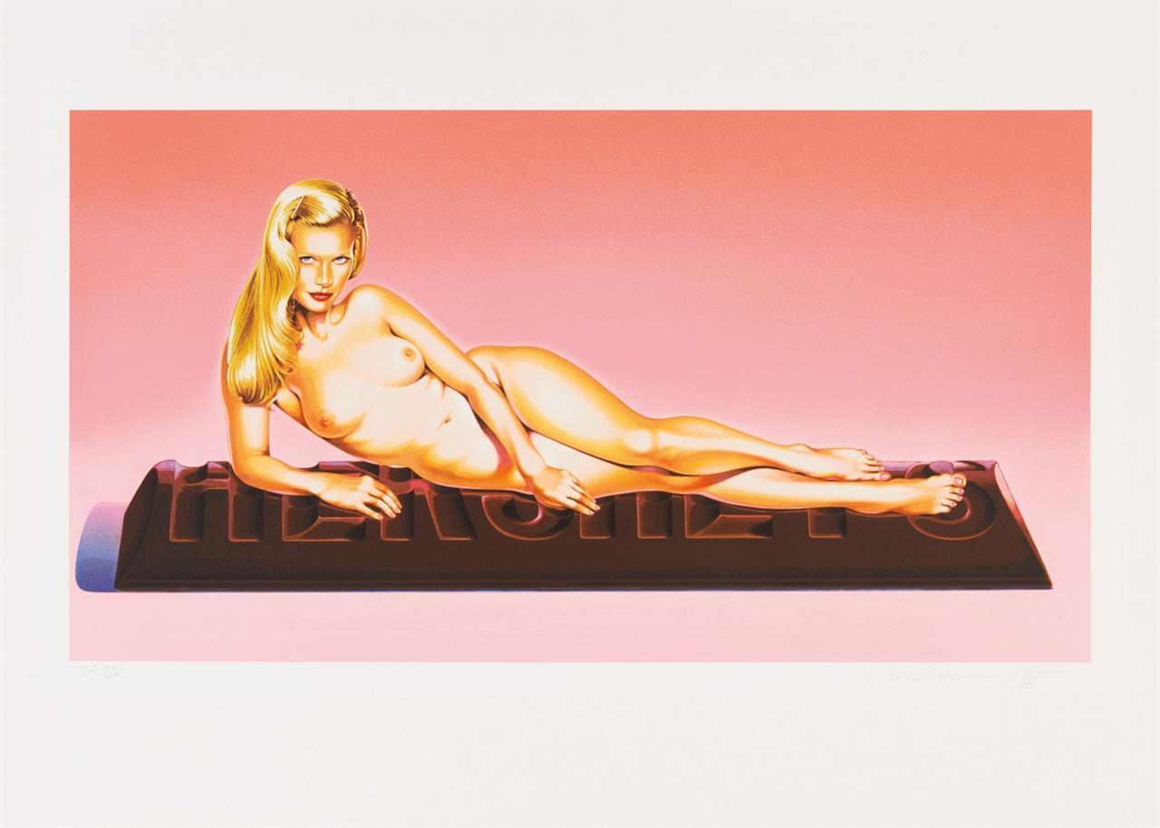 Mel Ramos. Sweet Odalisque. 1996. Farblithographie und Serigraphie. Signiert. Ex. P.P. 5/10. Schepers 101.