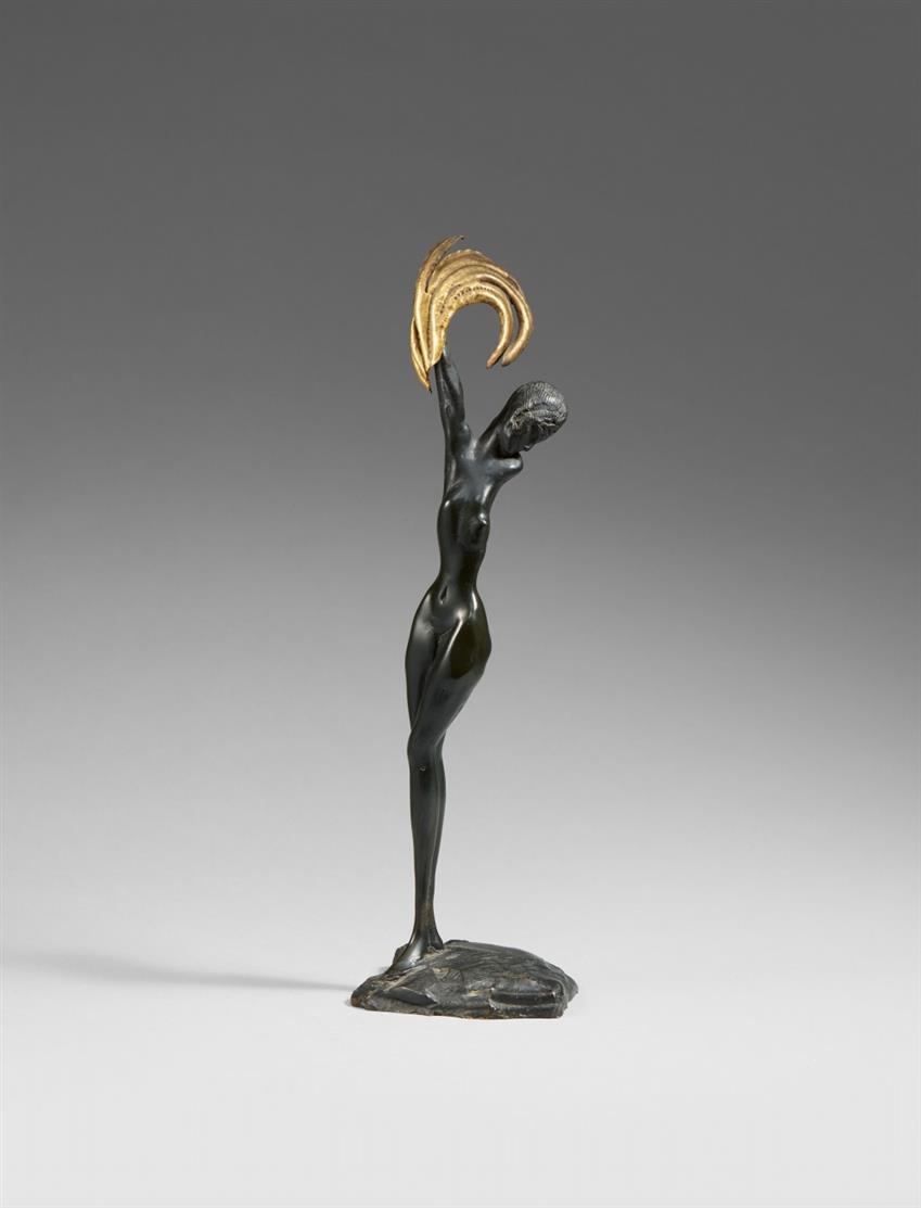 Ernst Fuchs. Daphne. 1973. Bronze. Ex. 525.