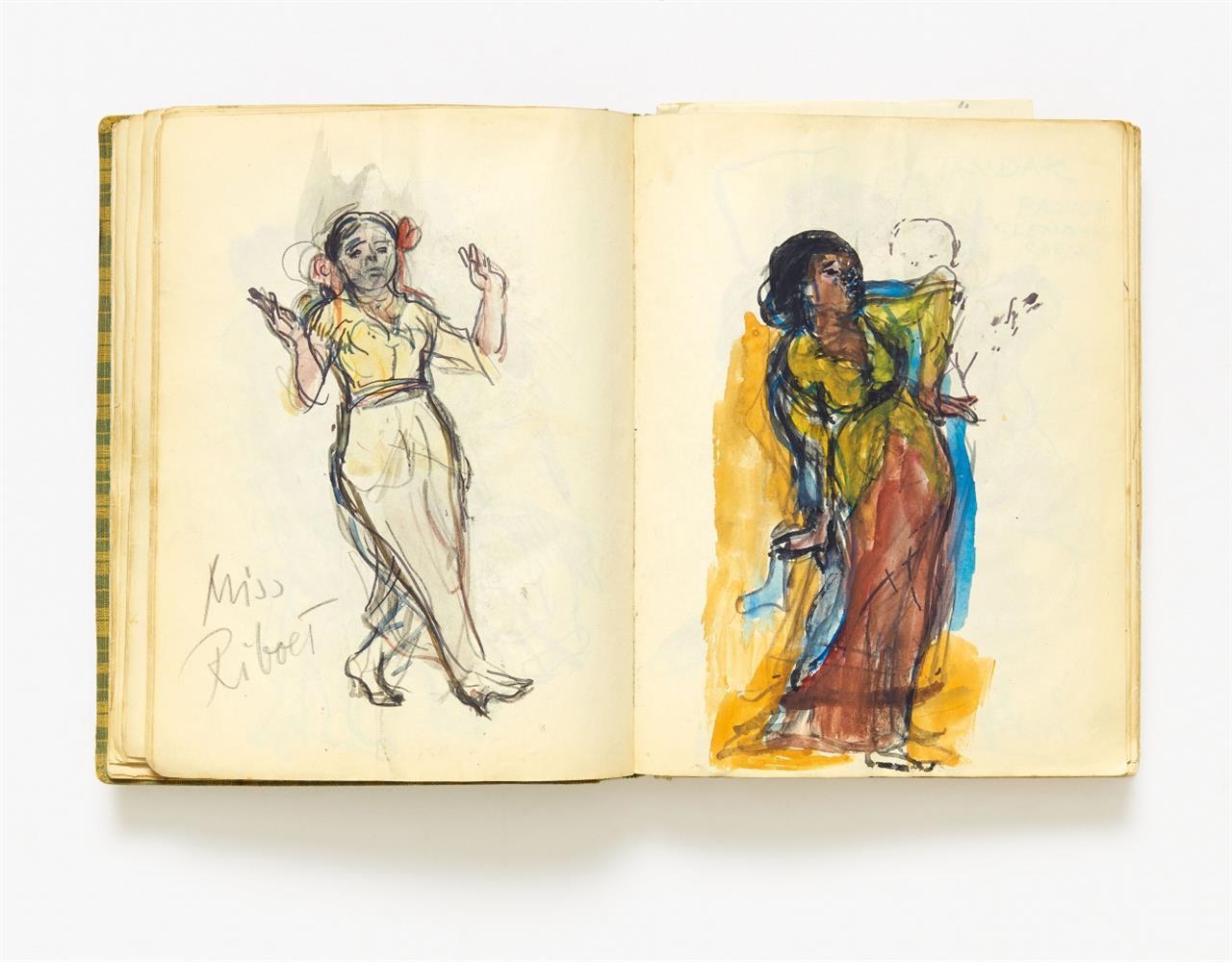 Fritz Heinsheimer. Skizzenbuch. Java 1931-32. / 1 Beilage von Colette.