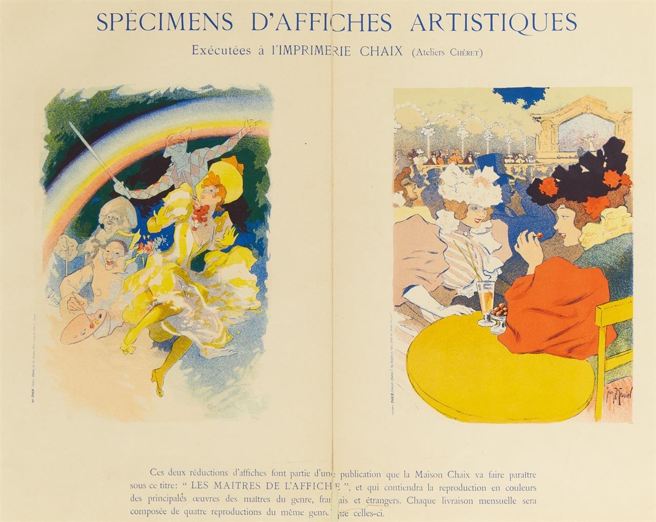 Jules Chéret. Specimens d'affiches artistiques. Plakat.