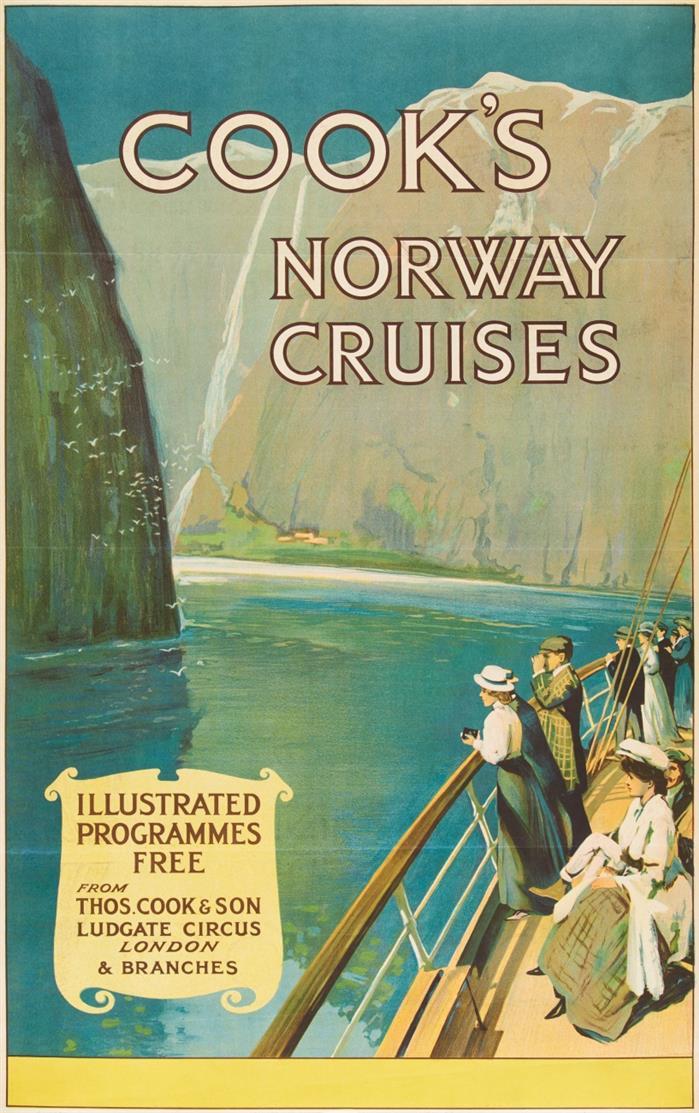 Plakat. (Anonym). Cook's Norway Cruises.