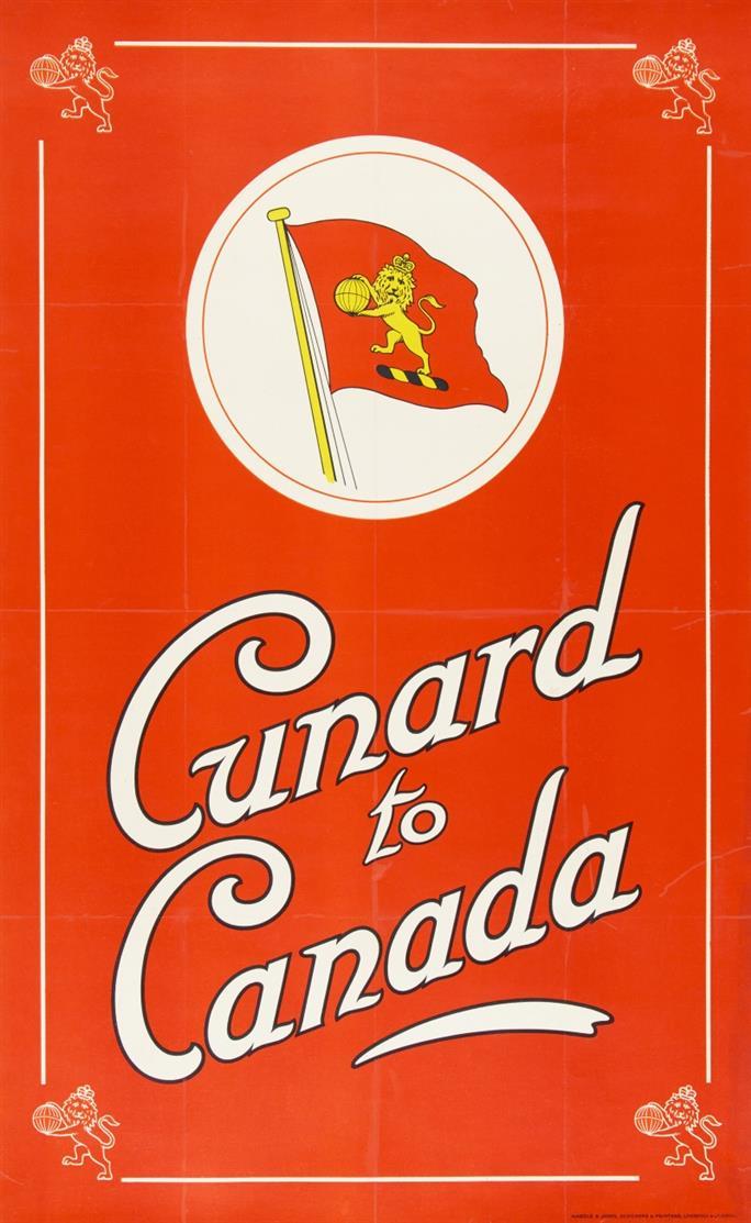 Reiseplakat. Cunard to Canada. Plakat.