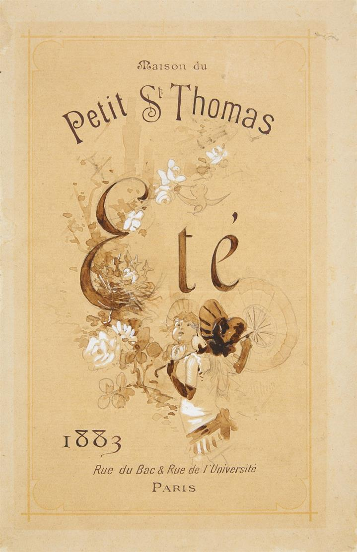 Jules Chéret. Maison du Petit St. Thomas. 1883. Aquarell, Bleistift, Deckweiß. Signiert. Plakat.