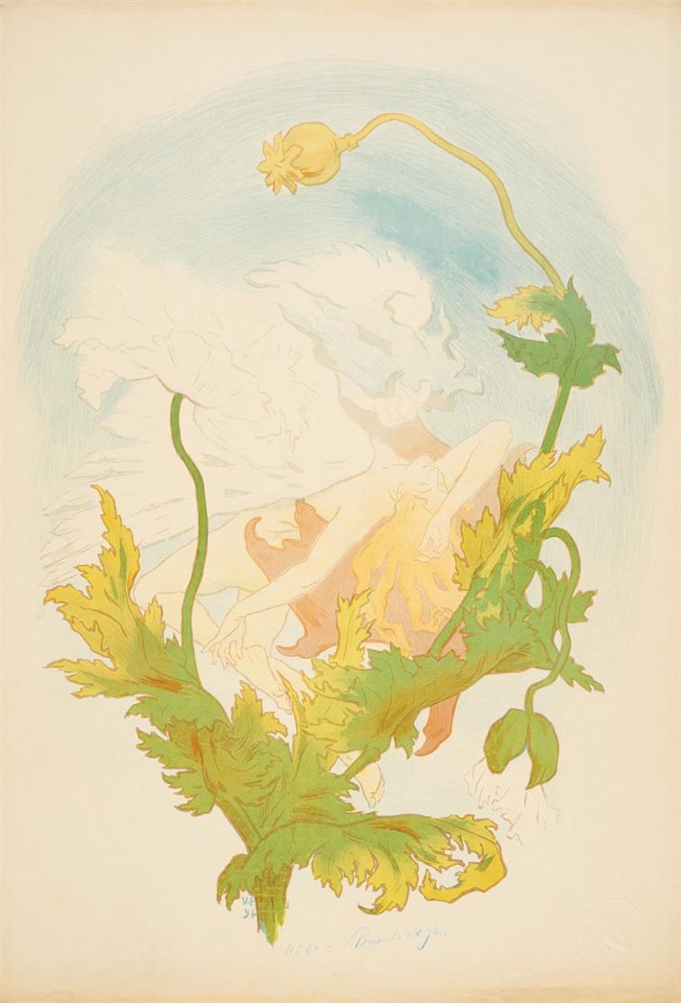 Victor Prouvé. L'Opium. 1894. Plakat.