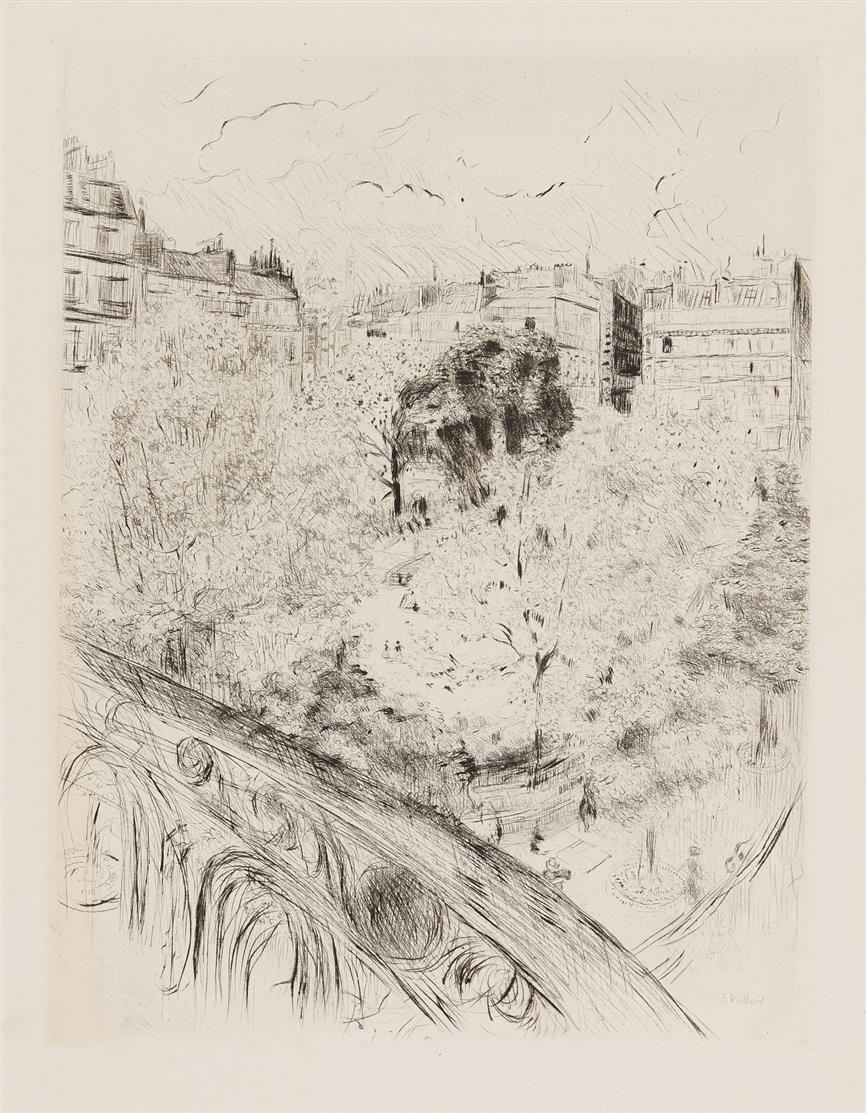 Édouard Vuillard. Square Vintimille. Radierung.
