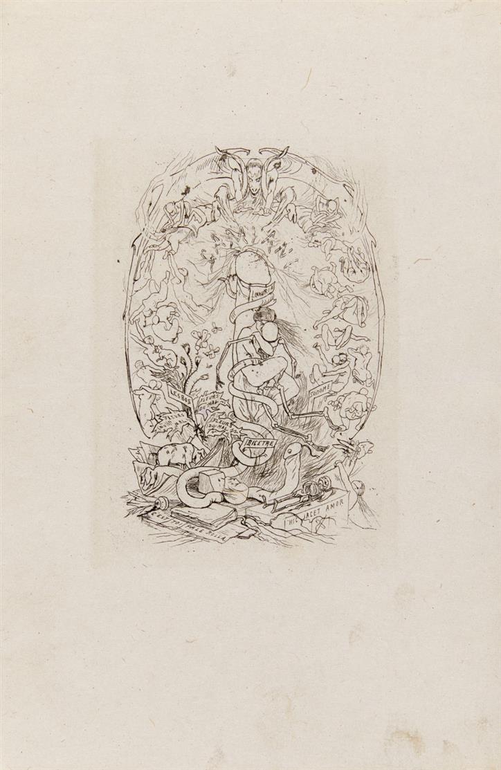 F. Rops. Gamiani ou deux nuits d'excès. 1864. 5 Blatt Radierungen. Mascha 408-412.