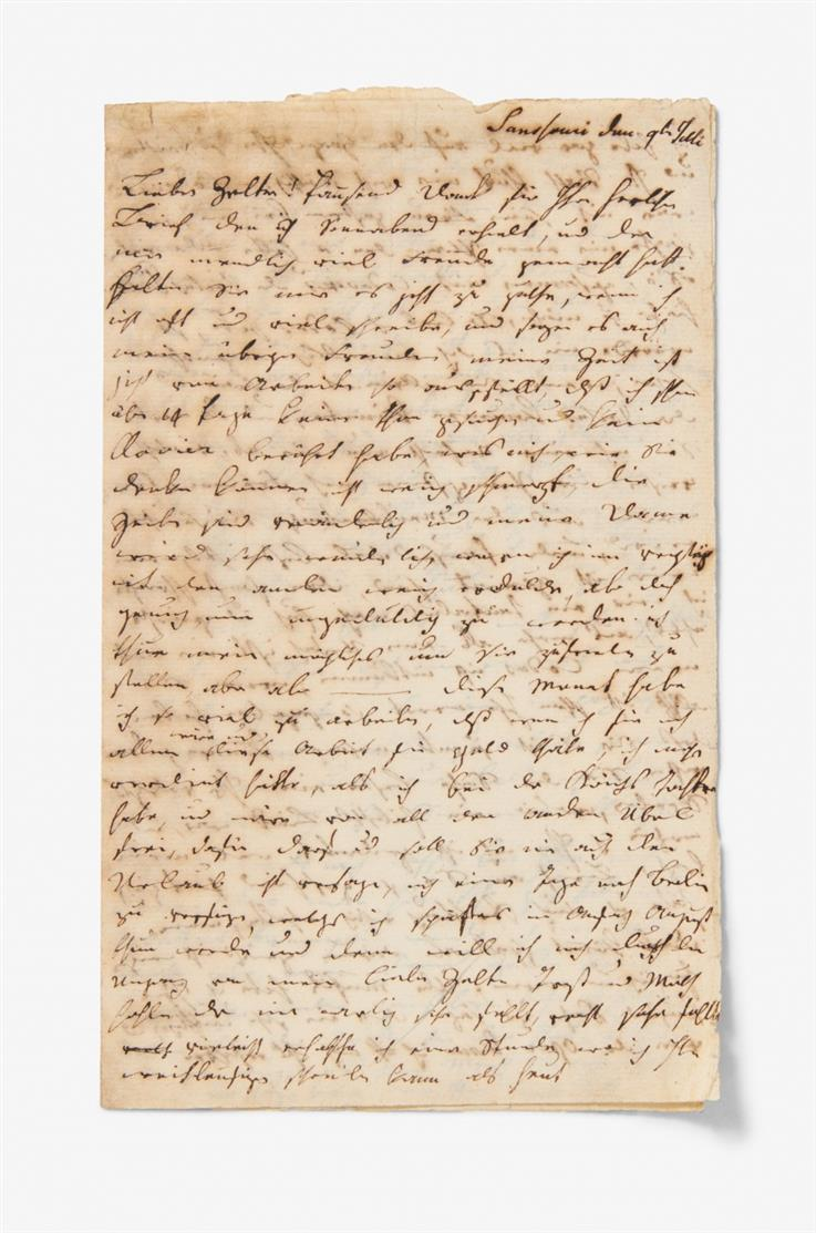 C. F. Zelter. E. Brief u. e. Musikmanuskript. 1796/1830. - Dazu 10 Briefe u. 1 hs. Dokument aus dem famil. Umkreis.