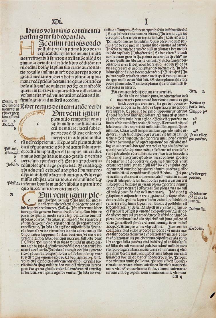 Albertus Magnus,Scriptum tertium divi Alberti magni ordinis predicatorum. Tl. 3. (v. 4 + Tab.). Basel 1506