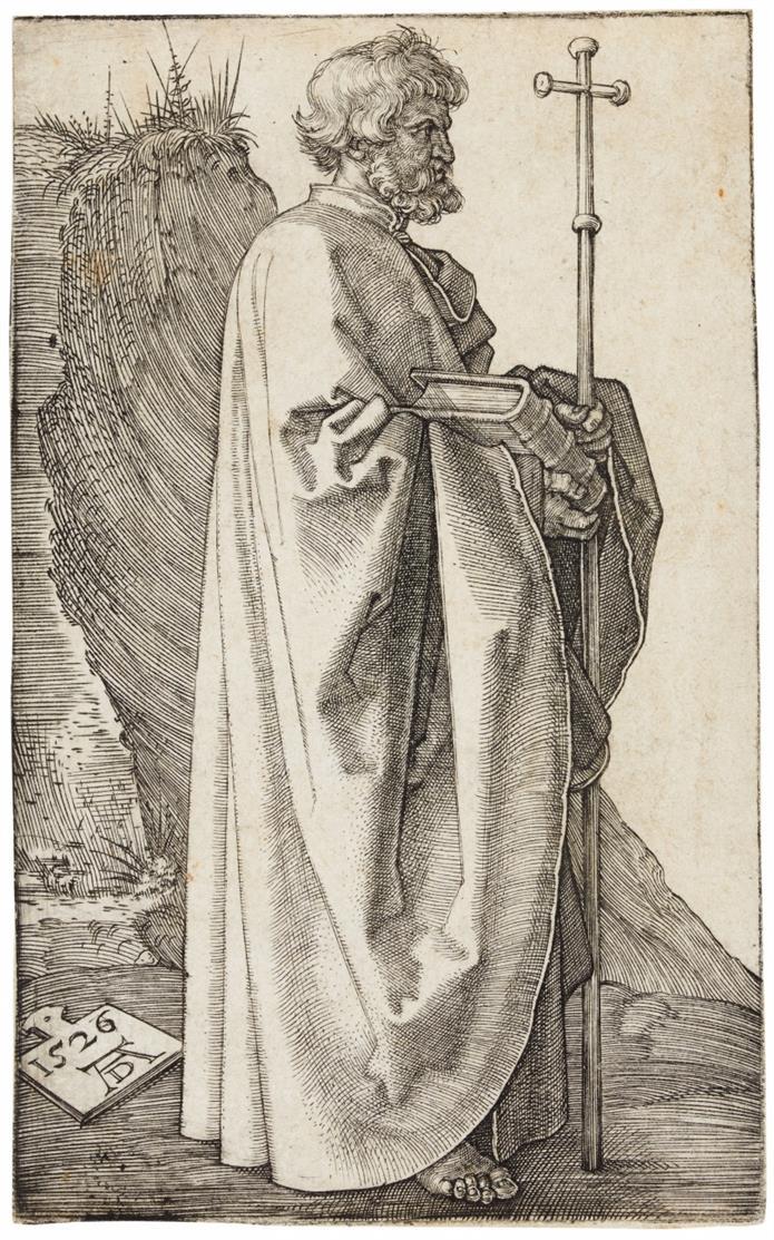 A. Dürer. Der Apostel Philippus. 1526. Kupferstich. Bartsch 46; Meder 48 c/d (von e).