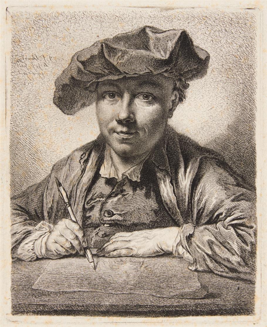 G. F. Schmidt. Selbstporträt. 1752. Radierung.