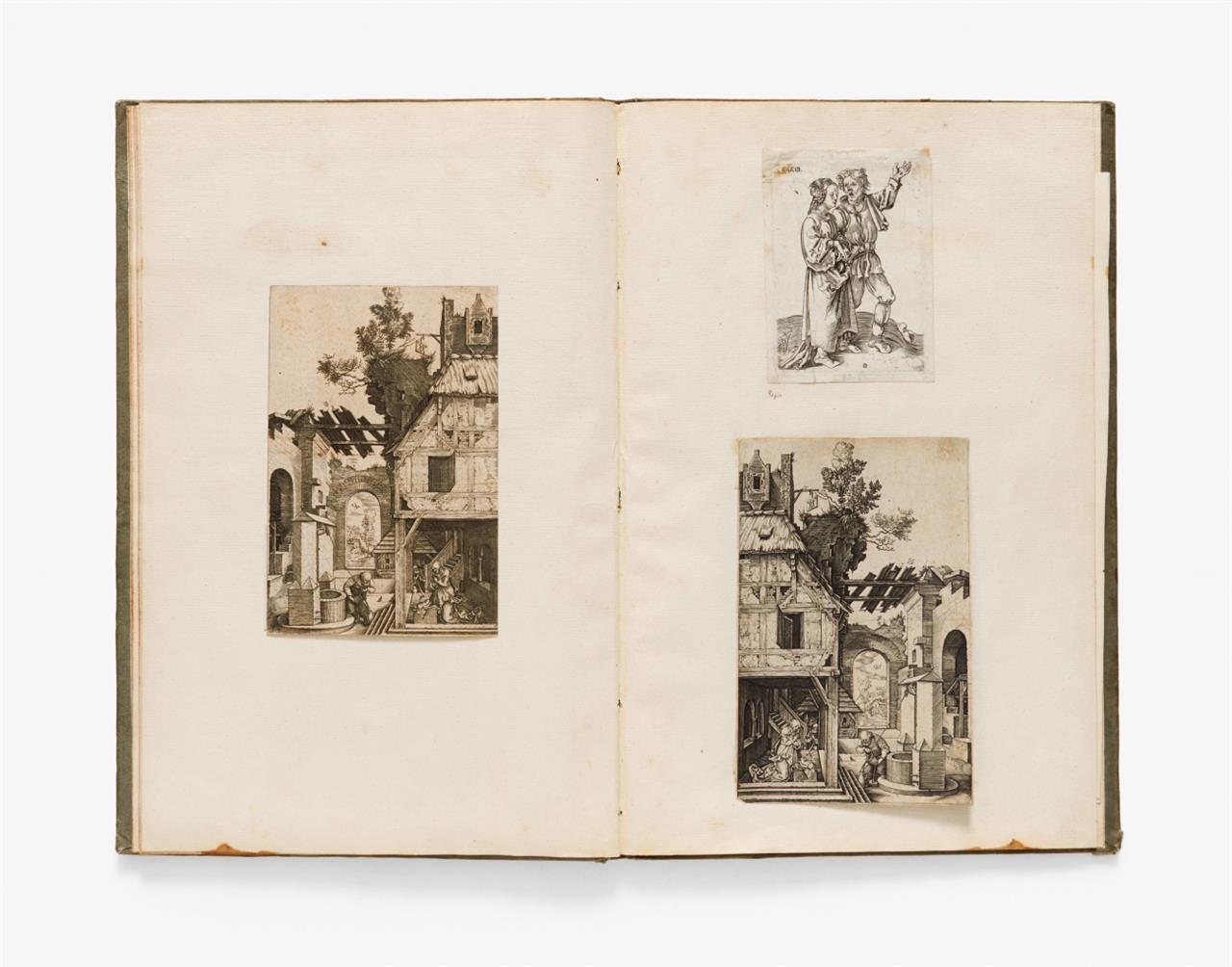 A. Dürer (nach). Sammelband mit 32 Blatt montierten Kopien nach Dürer.