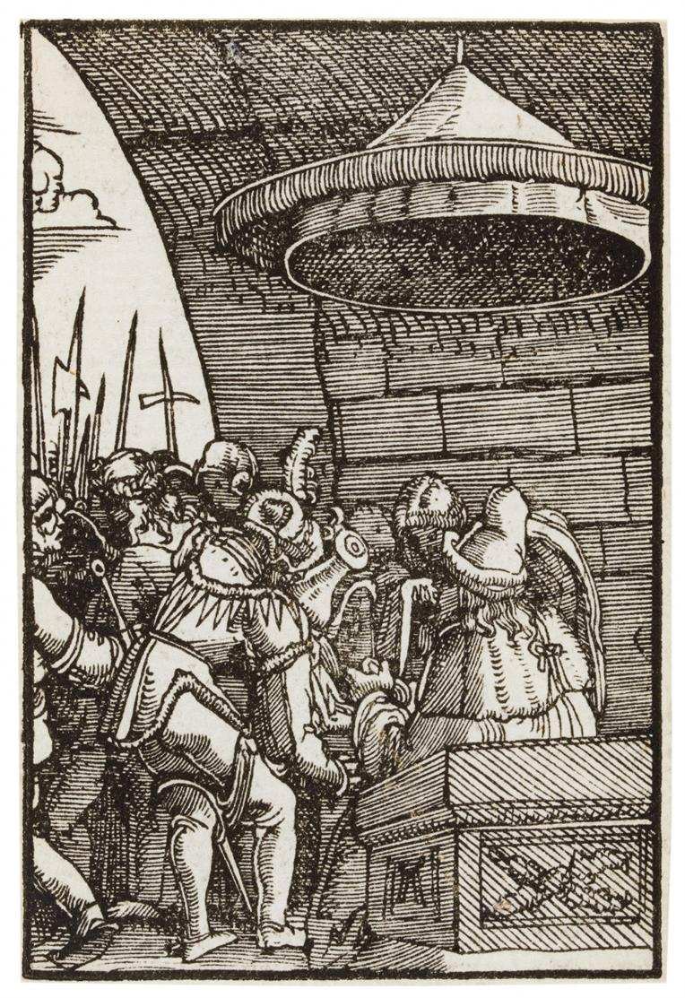 Albrecht Altdorfer. Pilatus wäscht sich die Hände. Holzschnitt. NH w.26.
