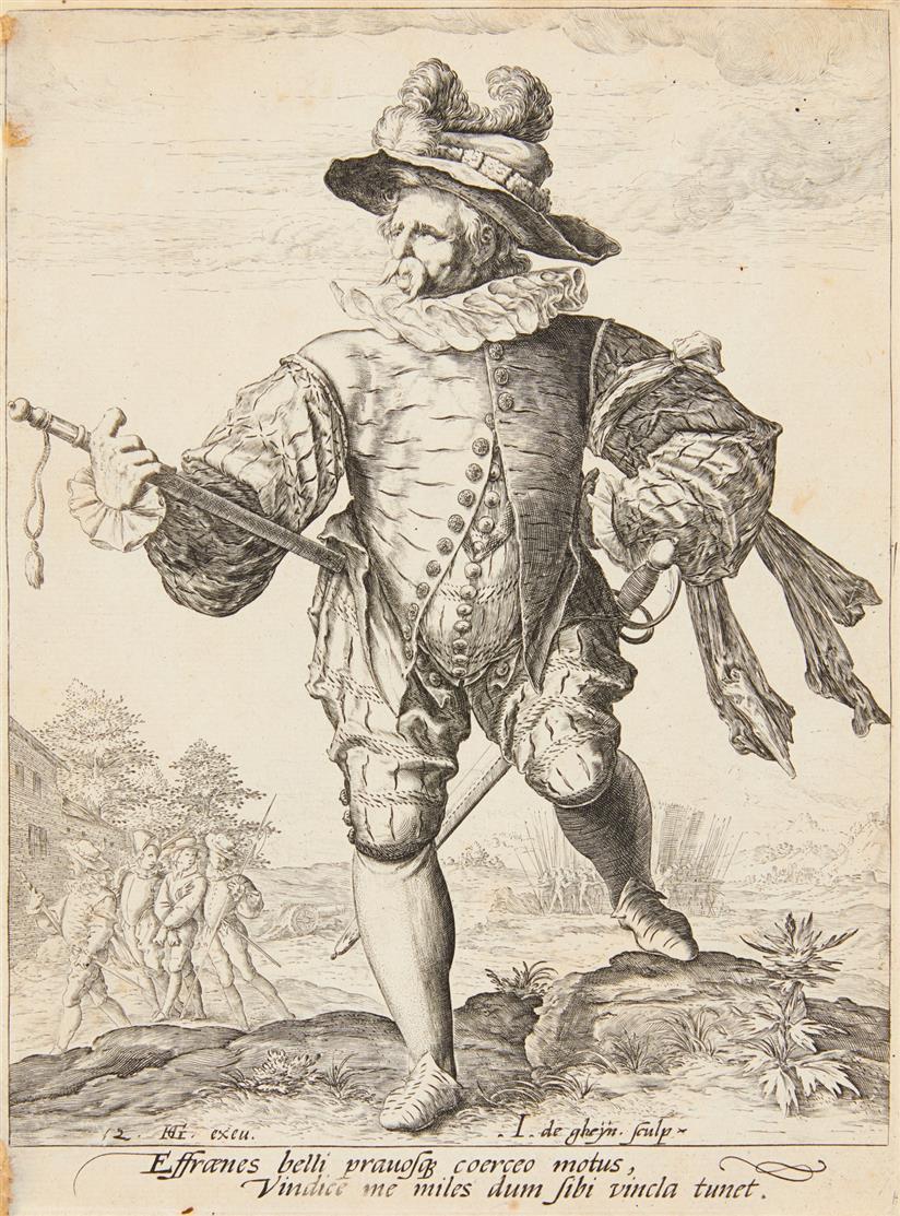 Jacob de Gheyn II. Provost. 1587. Kupferstich. NH 187 I.