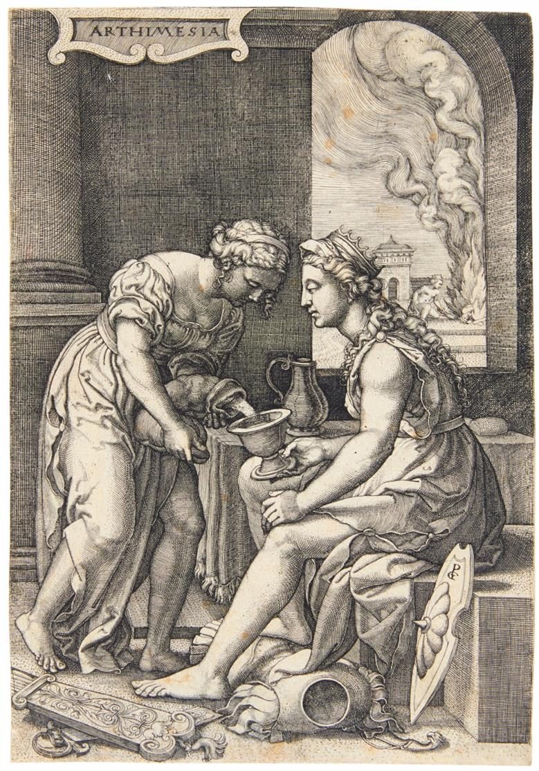 Georg Pencz. Artemisia. Kupferstich. Hollstein 135.