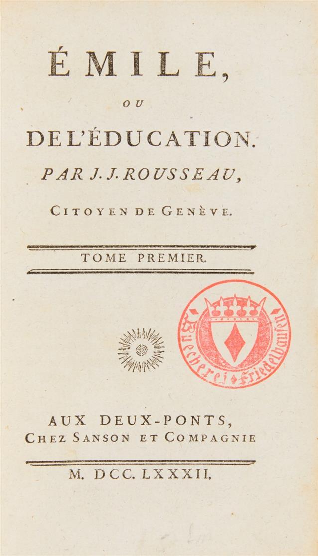 J.J. Rousseau, Collection complette des oeuvres. 28 Bände (v. 33). 1782.