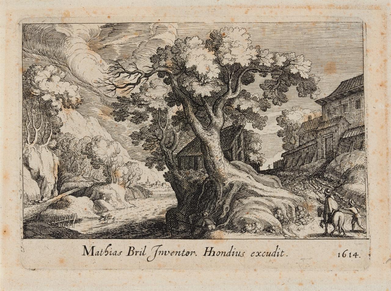 S. W. Frisius. Landschaften. 1614. 3 Blatt Kupferstiche nach Matthias Bril, aus Topographia Variarum Regionum. New Hollstein 131, 137 bzw. 142.