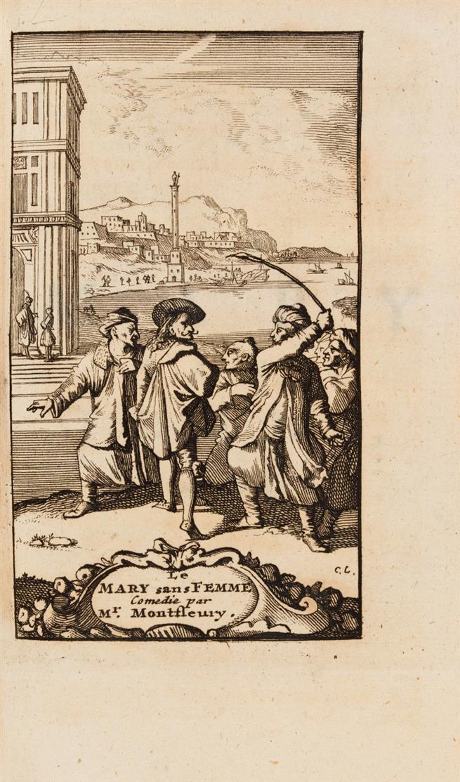 A. J. Montfleury, Les oeuvres, contenant ses pieces de théâtre. 2 Bde. Den Haag 1735.