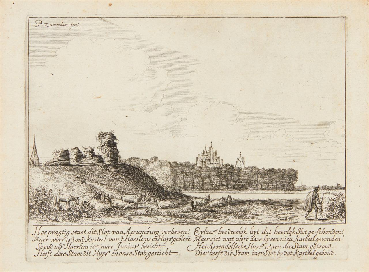 Pieter Jansz. Saenredam. Die Ruinen von Schloss Assemburg. Radierung. H. 2.