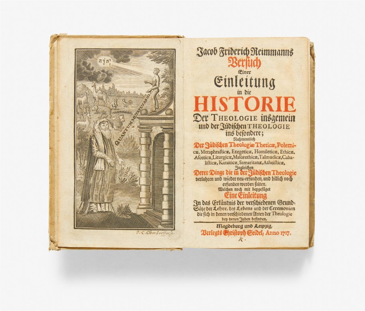 Reimmann, J.F., Einleitung in die Historie der Theologie. 1717.