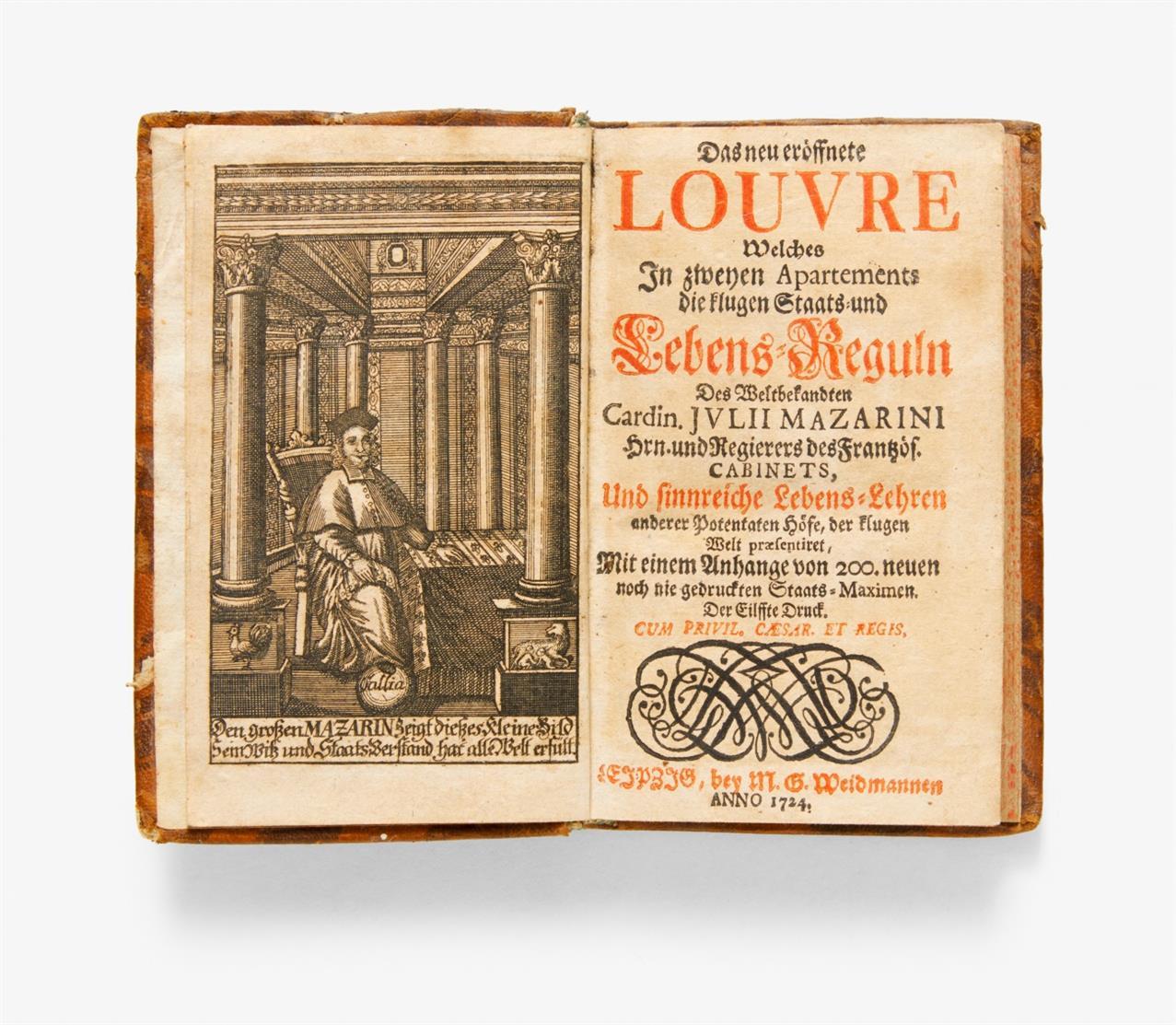 J. Mazarin, Das neu eröffnete Louvre. Lpz. 1724.