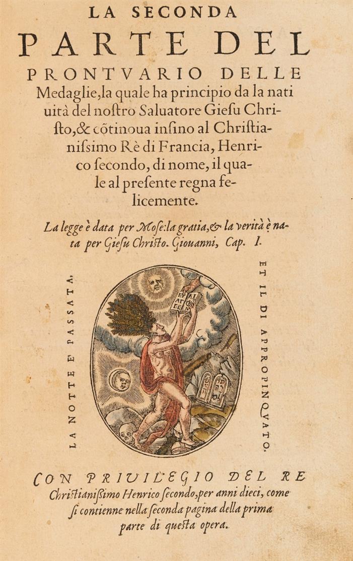Rouille, G.: Prontuario delle Medaglie. 2 Teile in 1 Band. 1553.