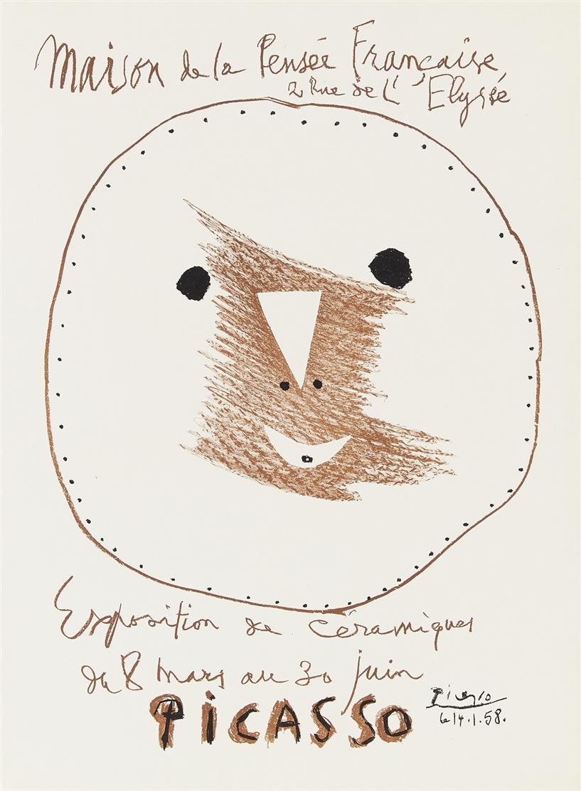 Pablo Picasso. Exposition de Céramiques. 1958. Eines von 500 Ex. Plakat.
