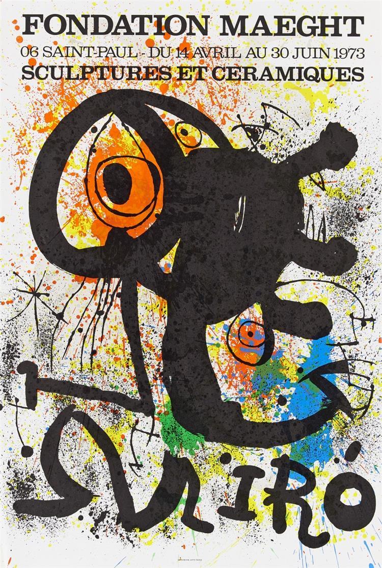 Joan Miró. Galerie Maeght. 4 Plakate.