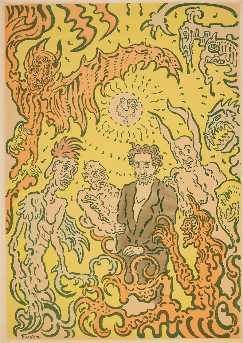 James Ensor. Affiche de la Plume. 1898. Plakat.