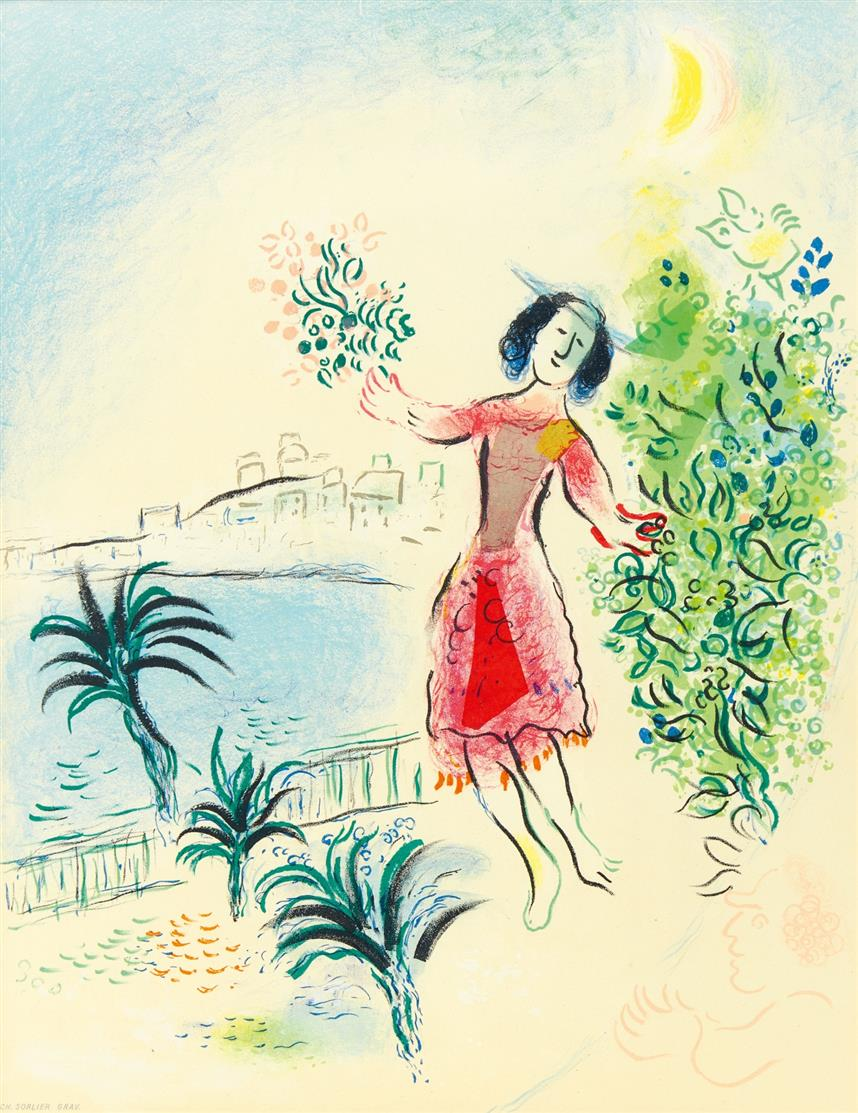 Marc Chagall. Musée des Arts décoratifs (1959) / Ville de Nice 1970. 2 Plakate. Farblithographien. Je signiert.