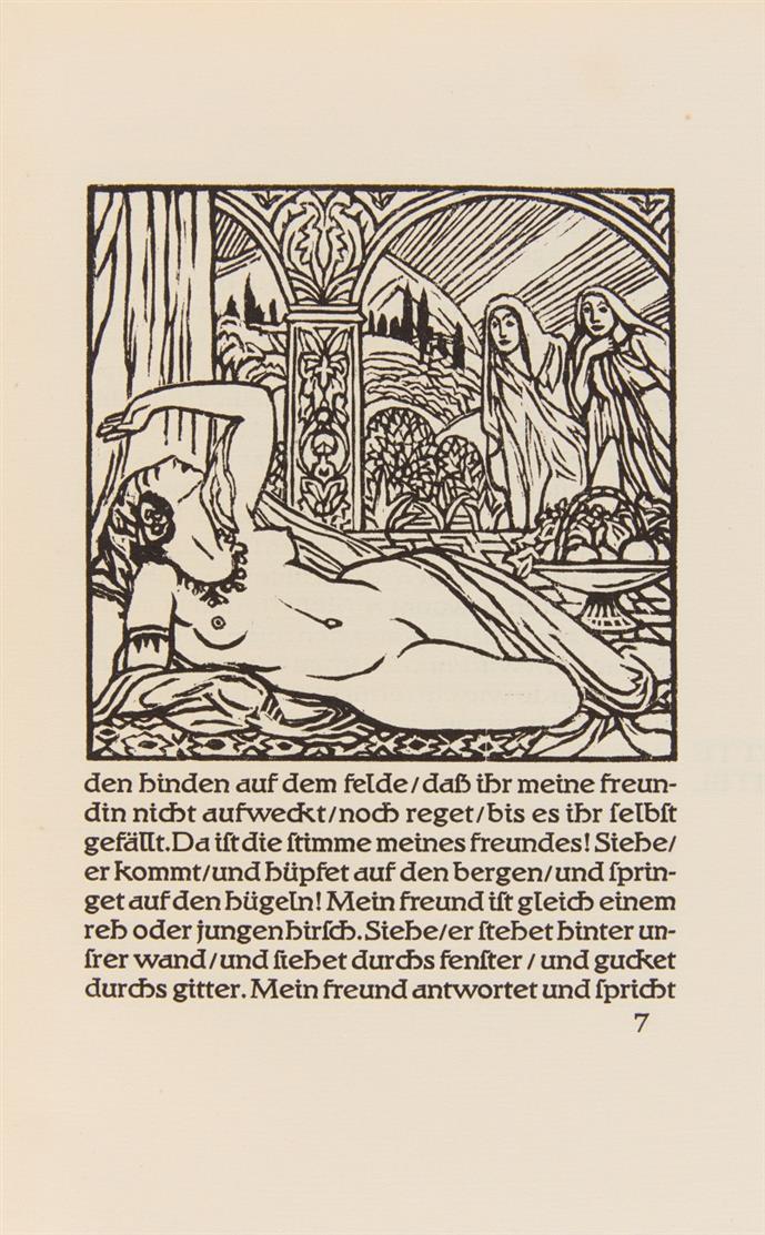 L. v. Hofmann, Das Hohe Lied Salomos. Bln 1921. - Ex. 178/350