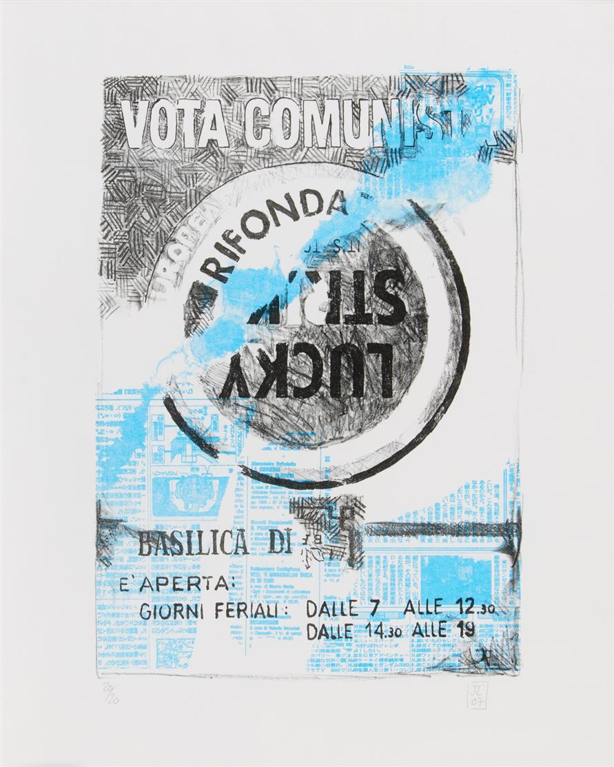 Jens Lorenzen. Vota (Lucky Strike). 2007. Farblithographie. Monogrammiert. Ex. 20/20.