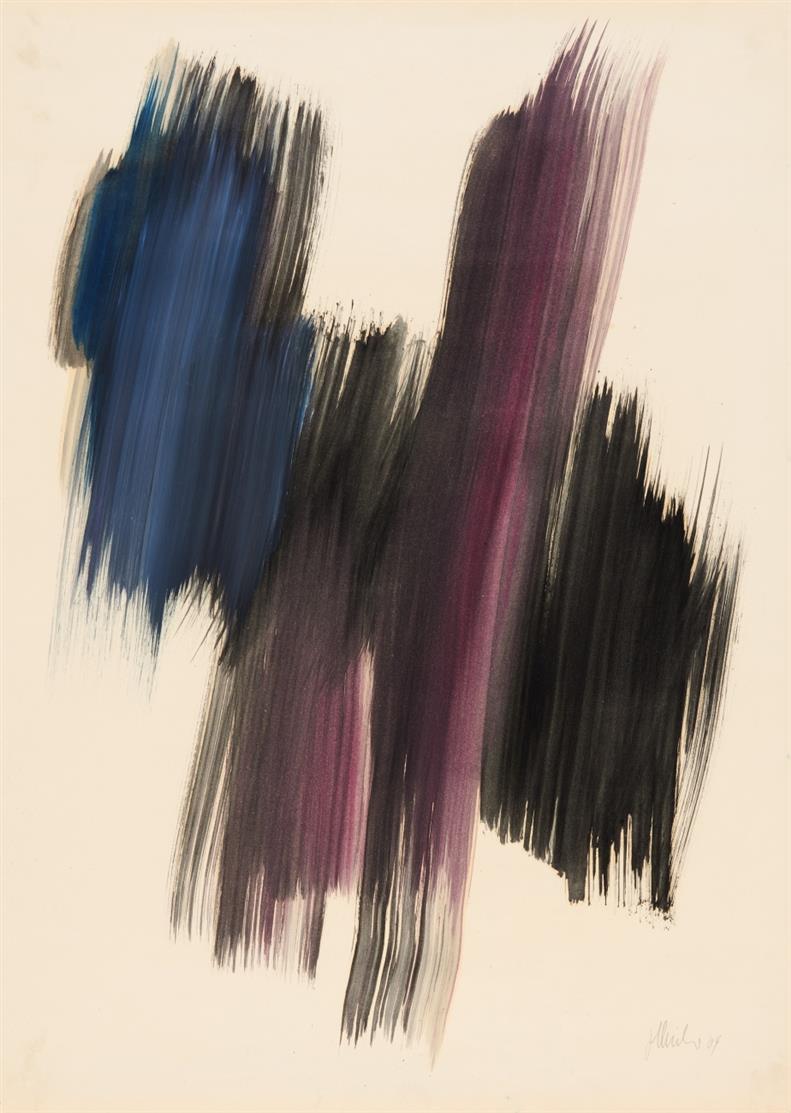 Fritz Winter. Ohne Titel. 1964. Öl auf Papier. Signiert.