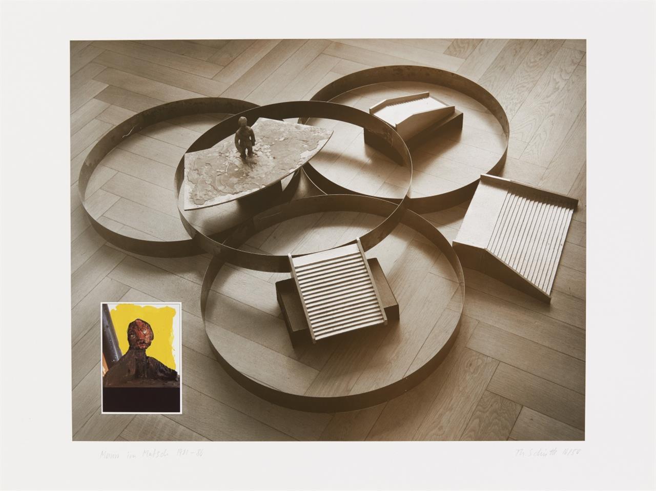 Mappenwerke/Sammlungen. 5 Bildhauer als Grafiker. 1986. 5 Graphiken, jeweils signiert. Ex. 16/50. Edition Kunstring Folkwang Essen. (Katharina Fritsch, Hubert Kiecol u.a.)