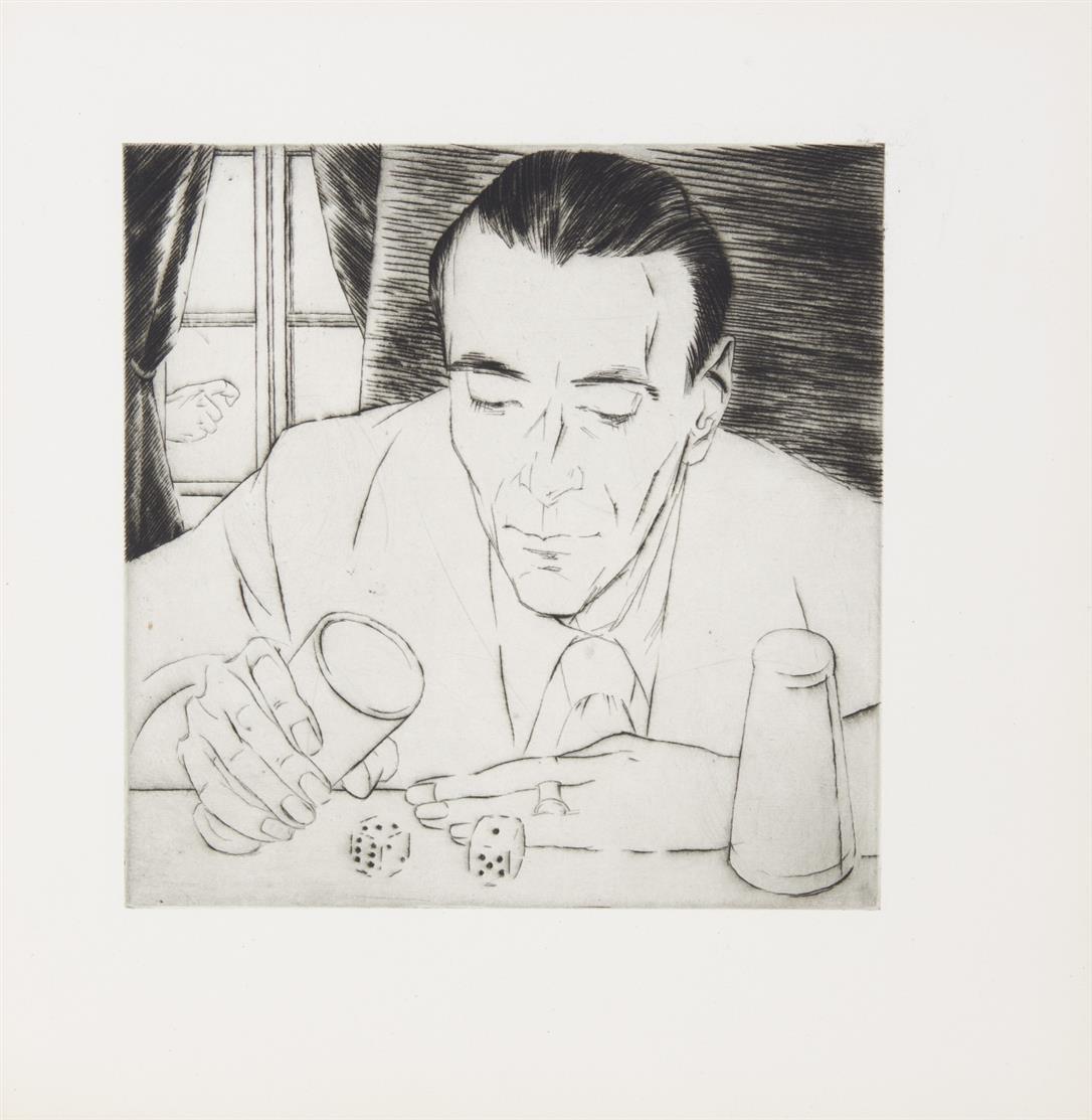 L. Marcoussis, Les Devins. 16 pointes sèches. Texte de G. Bachelard. Paris 1946. - Ex. 20/62.