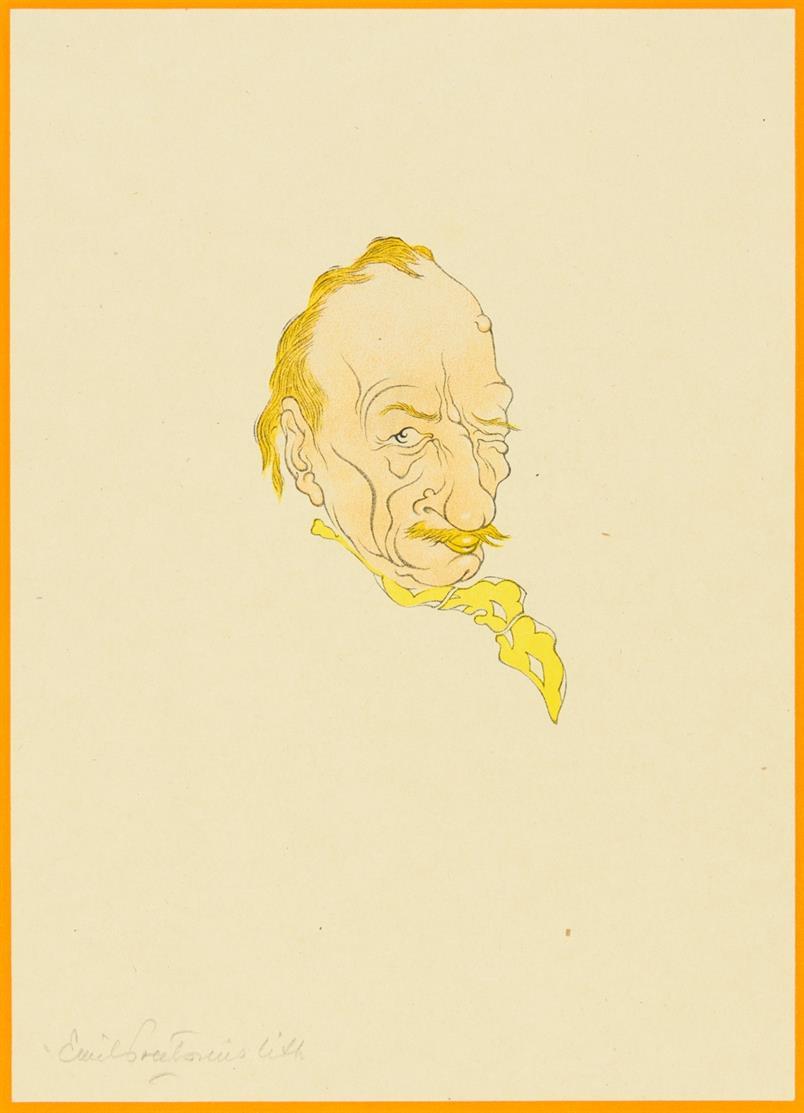 E. Preetorius. Bildnisse. Sieben Originallithographien. 7 Farblithographien. Lpz. 1919. - Ex. 27/175.