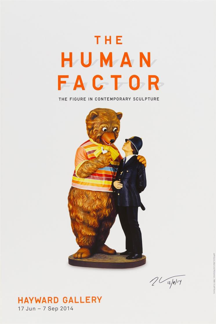 Jeff Koons. The human factor (Bear and Policeman). 2014. Farboffset, Plakat. Signiert.