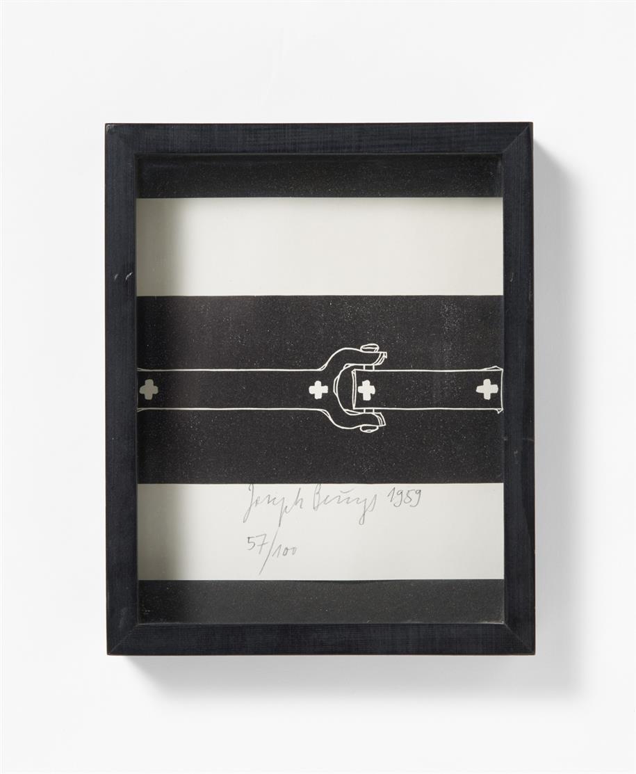 Joseph Beuys. Kettenglied. 1959 (1975). Buchdruck auf Papier. Signiert. Ex. 57/100. Schellmann 163.
