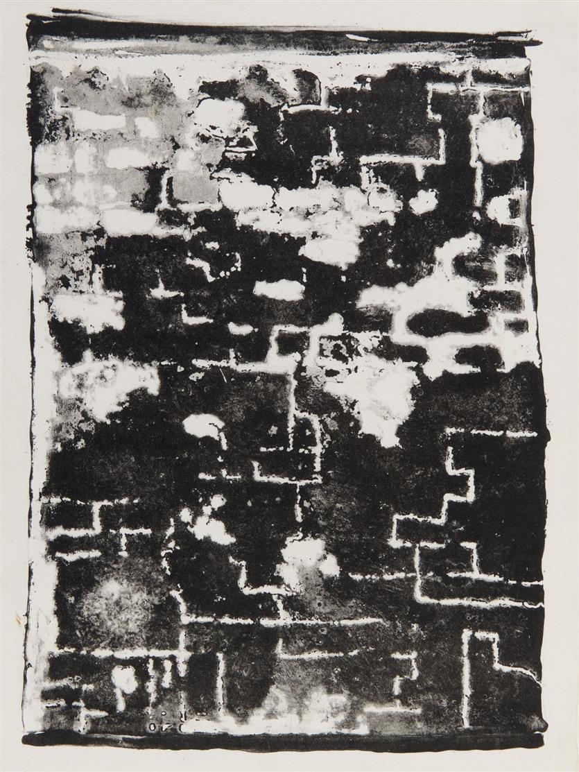Jean Dubuffet. Mur décrépit (aus: Les Murs). 1945. Lithographie. Nicht signiert. Webel 67.