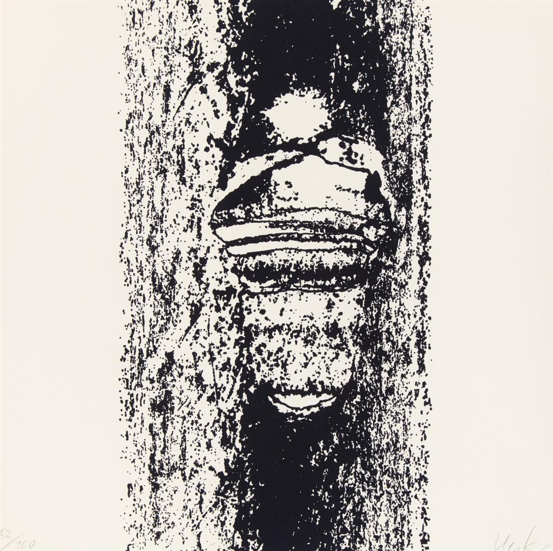 Günther Uecker. Leibbeschreibung eines Nagels. 1969/70. Folge von Titelblatt und 8 Zinkographien mit Prägedruck. Je signiert. Ex. 52/100.