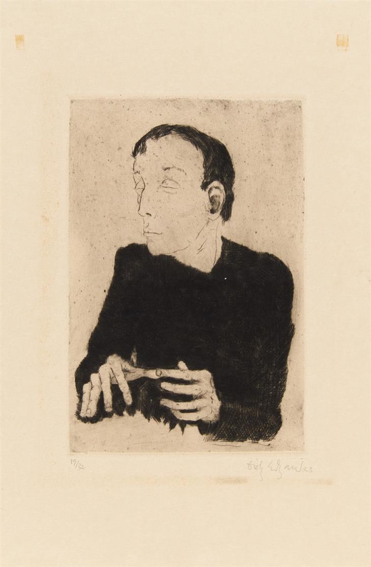Dietz Edzard. Männerbildnisse. Um 1923. 3 Blatt Radierungen. Signiert.