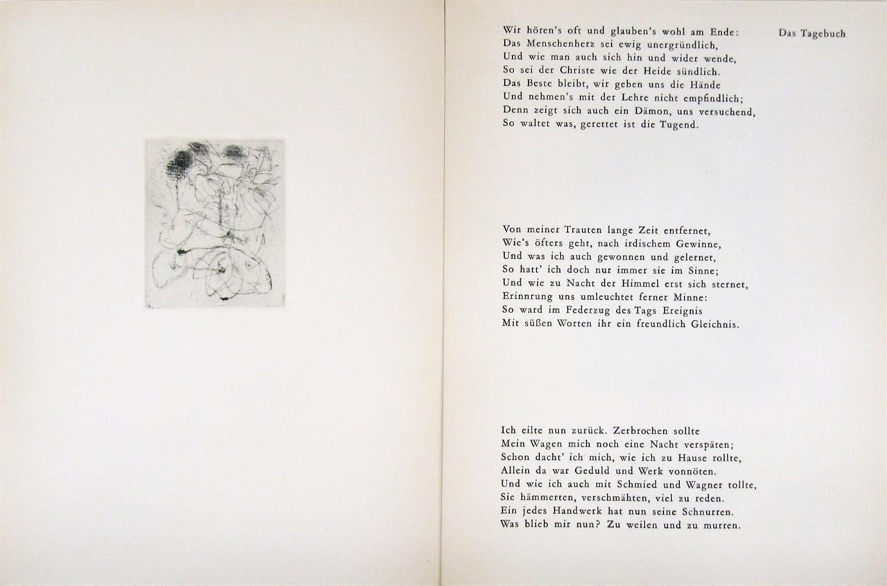 E. Schumacher / J. W. v. Goethe, Das Tagebuch. Köln 1963. - Ex. 26/100.