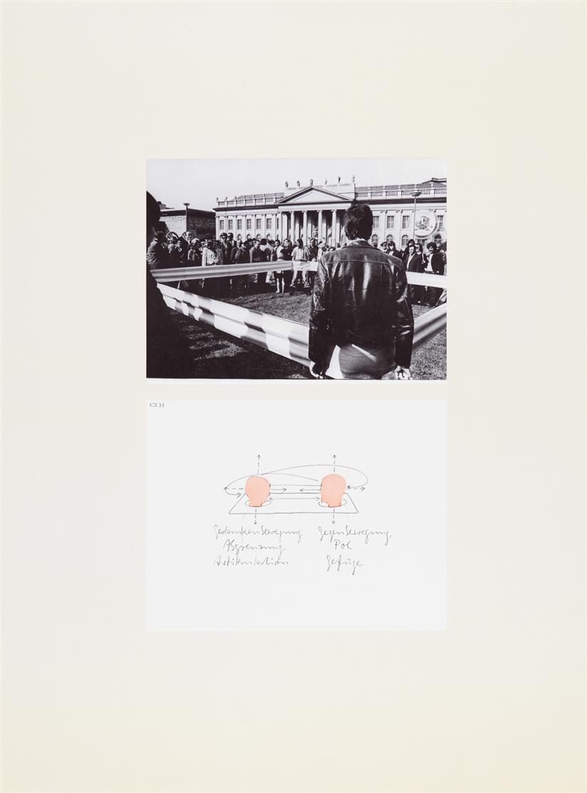 Franz Erhard Walther. Museum Haus Lange Krefeld / Für Fünf .... 1974. 6 Blatt Farboffsetdrucke. Verso signiert. Edition Griffelkunst Wahl 195 B1-6.