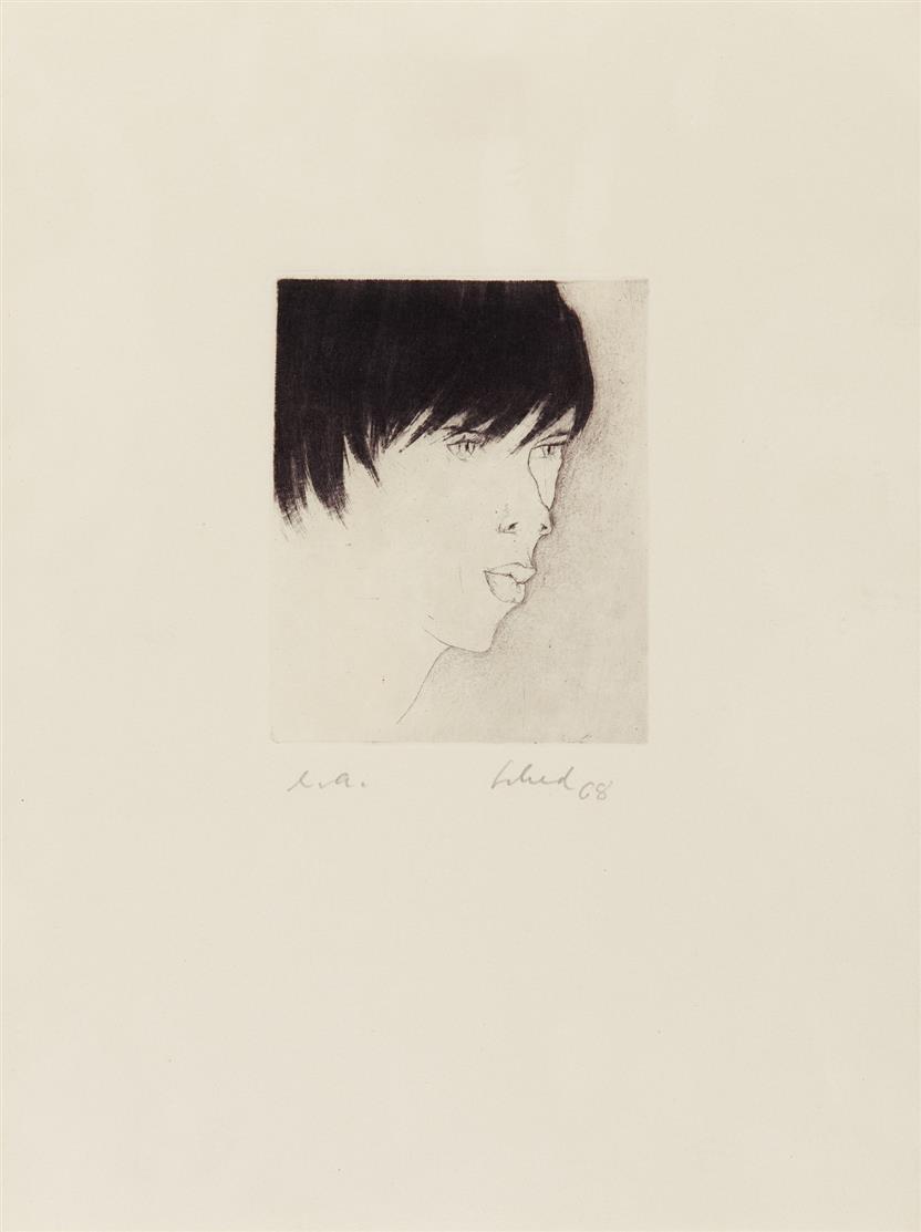 Christian Schad. Chantal. 1968. Radierung. Signiert.  Ex. e.a.