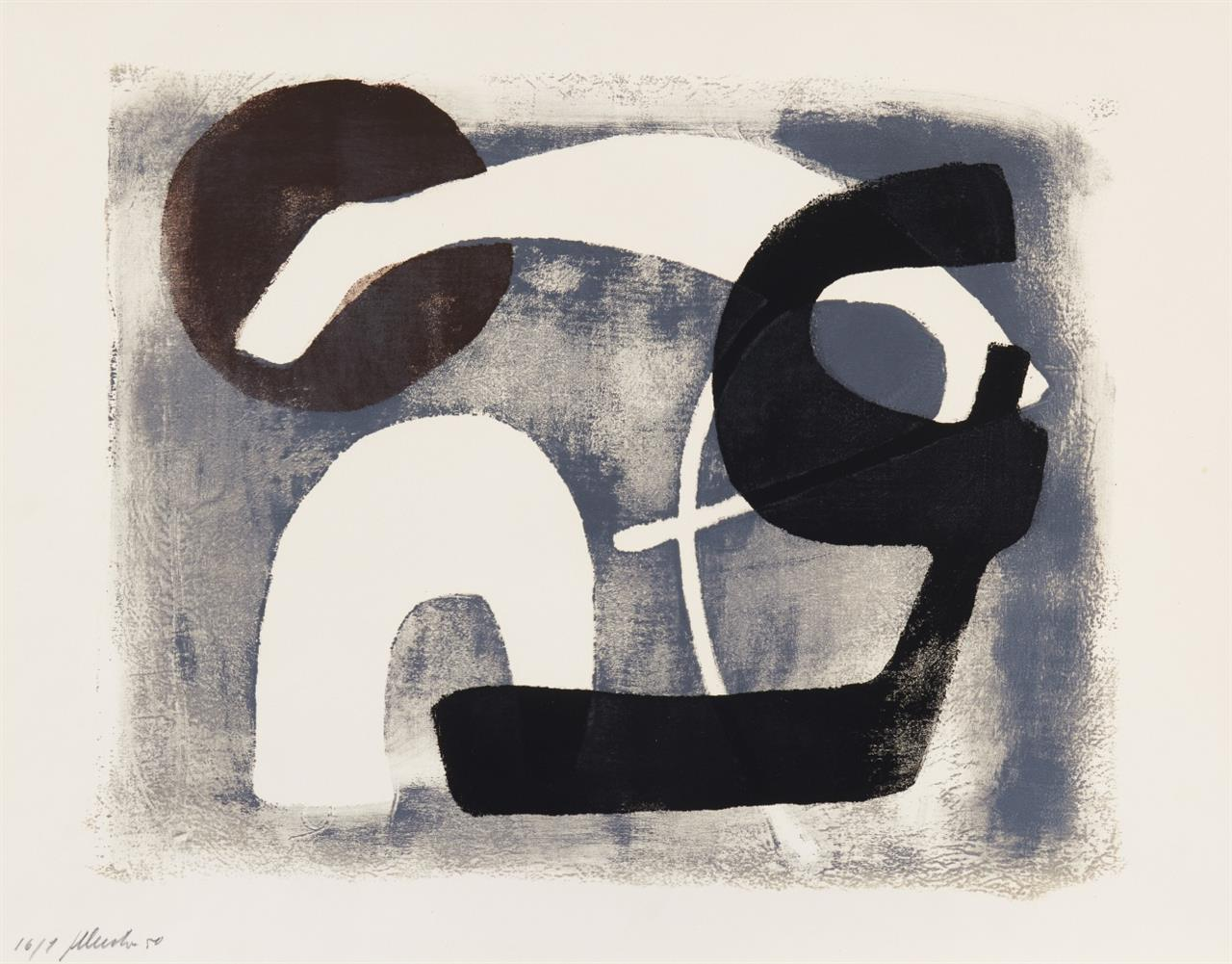 Fritz Winter. Siebdruck 1. 1950. Siebdruck. Signiert. Ex. 16/1. Gabler 1.