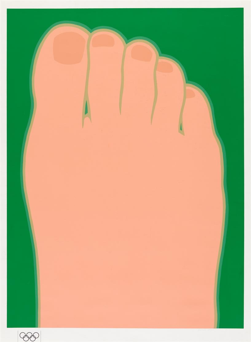 Tom Wesselmann. Great American Foot.1970. Farbserigraphie. Signiert. Ex. 66/200. VA d. Olympia-Edition.