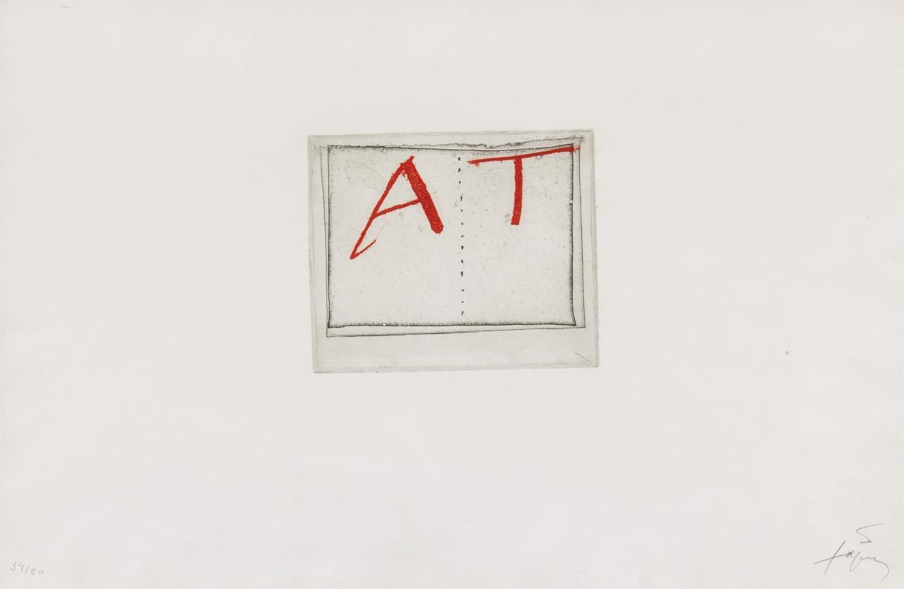 Antoni Tàpies. Livre ouvert. 1976. Farbradierung. Signiert. Ex. 34/50. Galfetti 563.